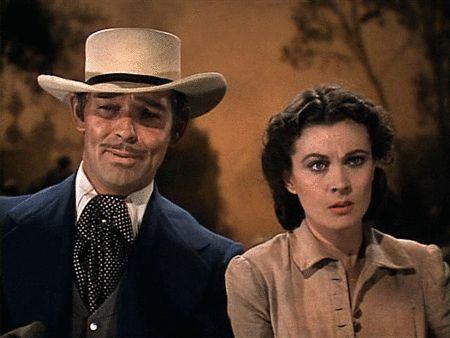 """""""Gone With the Wind"""": Vivien Leigh/Scarlett O'Hara & Clark Gable/Rhett Butler"""