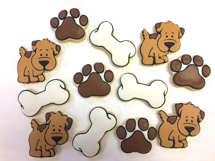 Dog Theme Cookie Favors, Pups and Paws Party Favor Cookies for Birthdays, Paw Print Cookies, Dog Bone Cookies, Personalized Cookies by ClawsonCookies on Etsy https://www.etsy.com/listing/236725319/dog-theme-cookie-favors-pups-and-paws