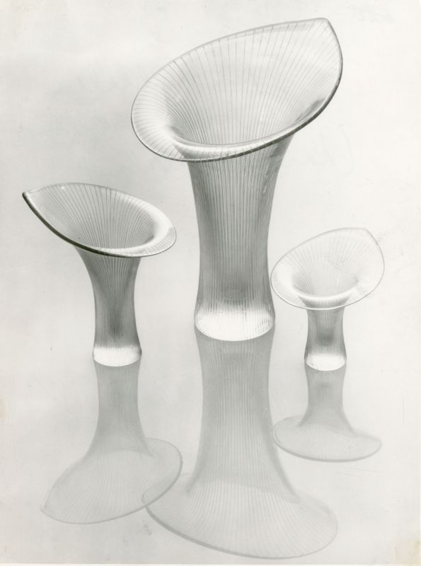 Kantarelli-maljakko, Design Tapio Wirkkala (1946), Iittala