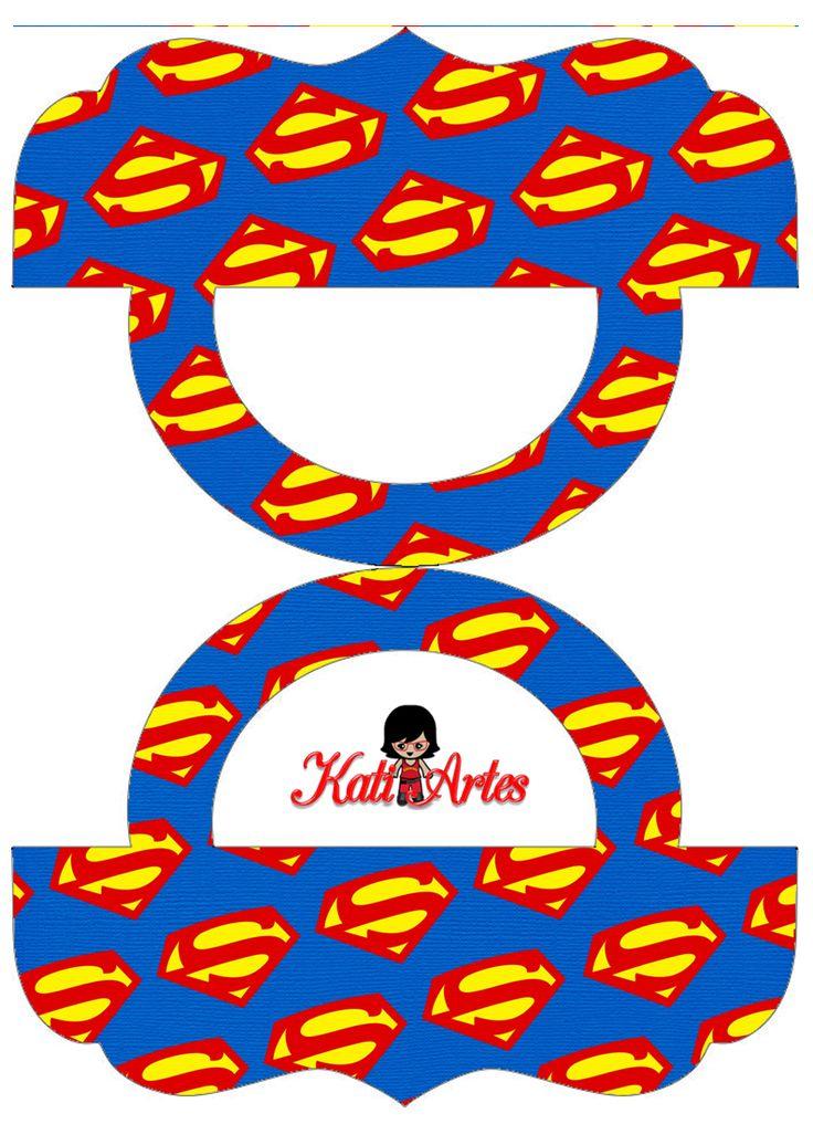 Super Héroes: Etiquetas para Bolsas de Golosinas para Imprimir Gratis.
