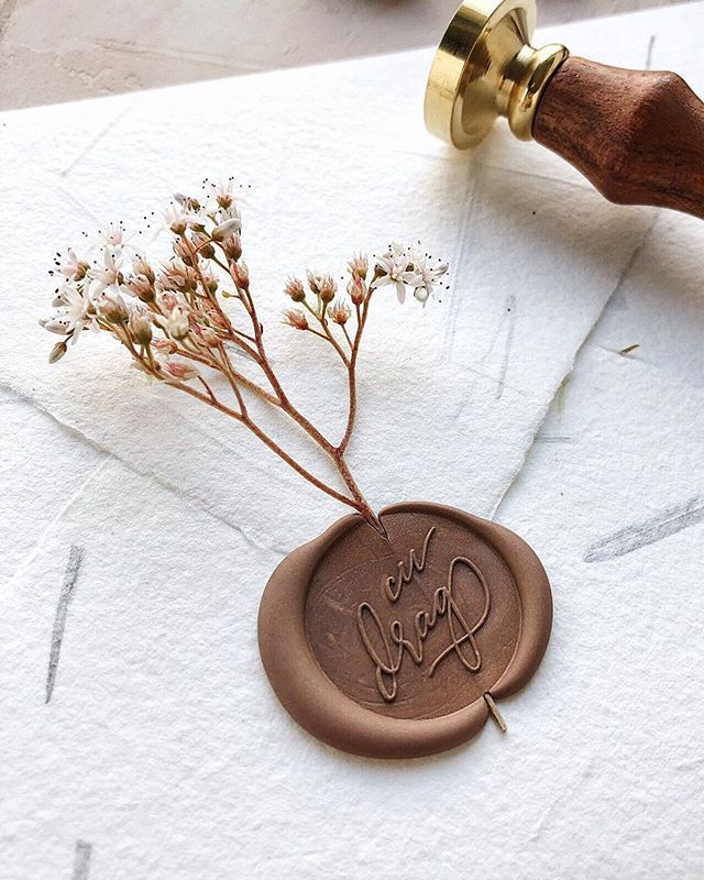 sealing wax stamp gusture wax stamp Custom wax Seal Kit Peace and love gesture wax seal Wax
