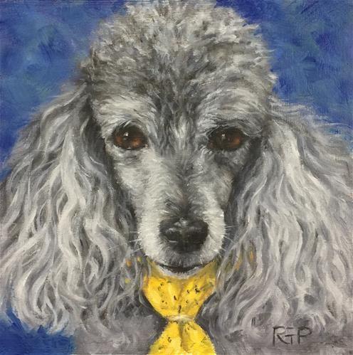 "Daily Paintworks - ""Snickers (pet portrait)"" - Original Fine Art for Sale - © Rhea Groepper Pettit"