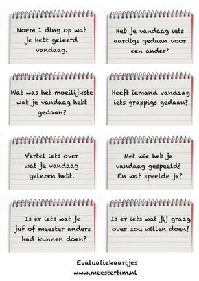 Evaluatiekaartjes