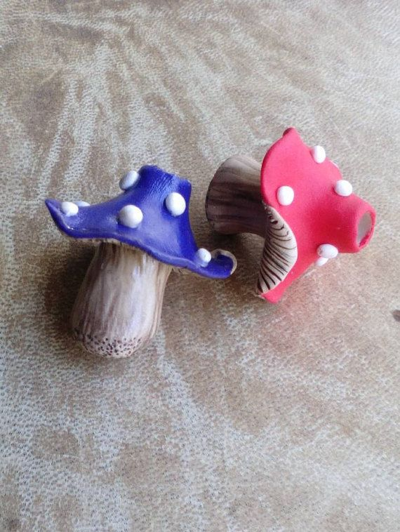 Clay mushroom Dreadlock bead. Dread bead. by Miasdreadlockbeads