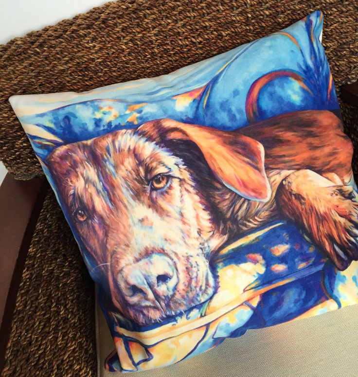 Dog lovers - Dog on the Couch Pillow by Kate Green Design in gorgeous velveteen fabric https://www.etsy.com/listing/270580593/throw-pillowcase-throw-cushion