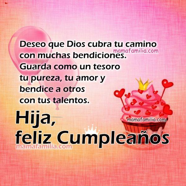 Frases Tarjeta Cristiana Hija Princesa Feliz Cumpleaños Feliz Cumpleaños Para Mí Frases De Feliz Cumpleaños Felicitaciones De Cumpleaños Hija