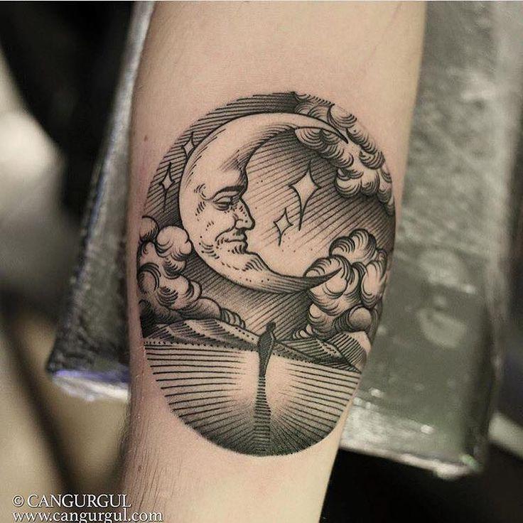 L for Black moon tattoo
