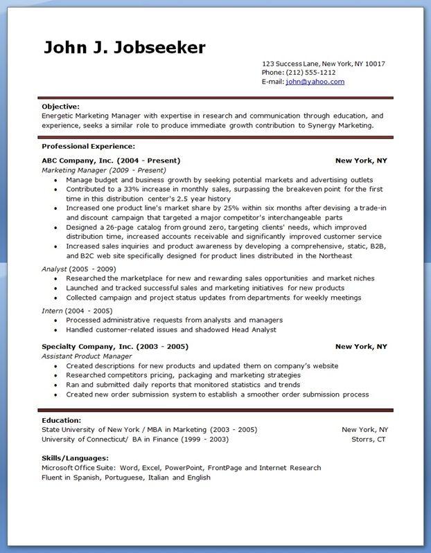 Resume Examples Creative Resume Design Templates Word