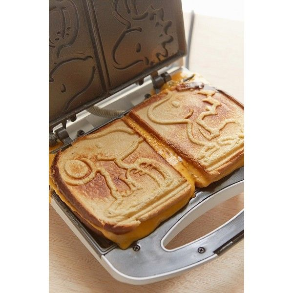 Snoopy Grilled Cheese Maker ($38) ❤ liked on Polyvore featuring home, kitchen & dining, small appliances, urban outfitters and sandwich grill