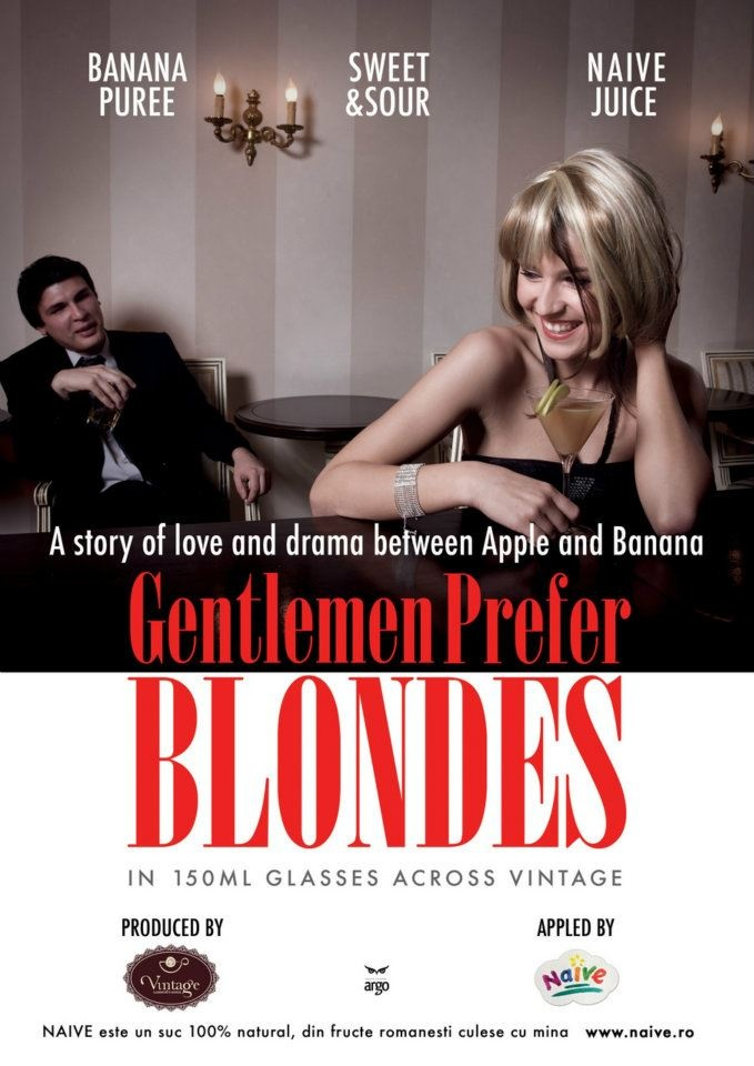 Gentlemen Prefer Blondes.  A story of love & draba between Apple & Banana.