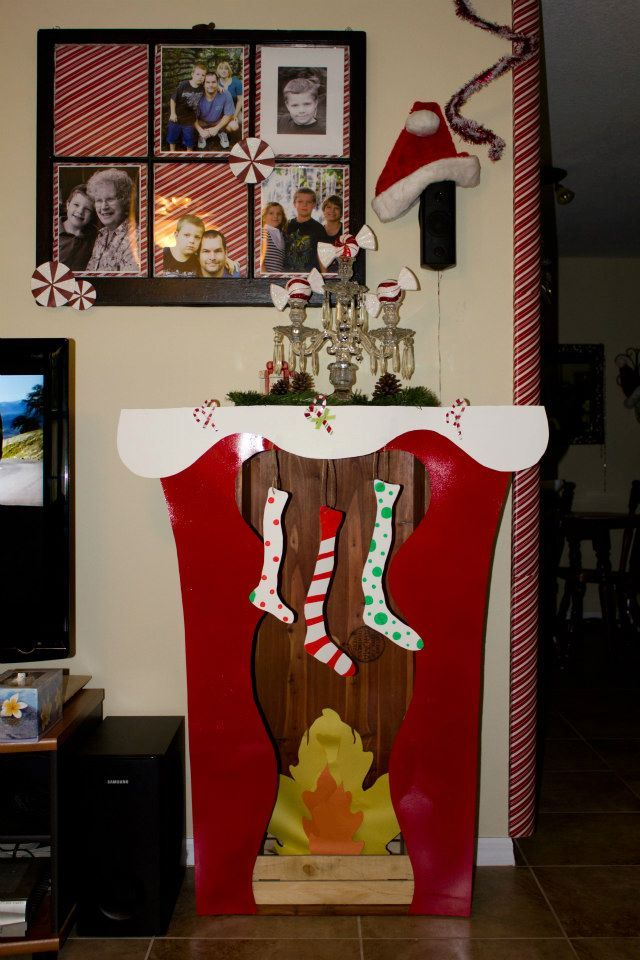 A Whoville Fireplace Waiting For A Grinchy Santa