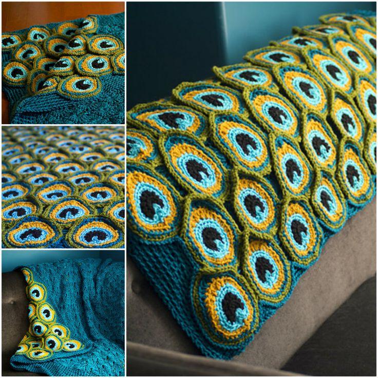 Crochet Peacock Blanket!