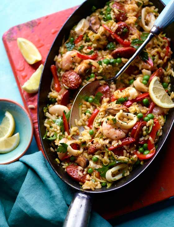 30-minute seafood paella is a great quicker recipe from an old favourite. Don't worry though, it's still just as mouthwatering!