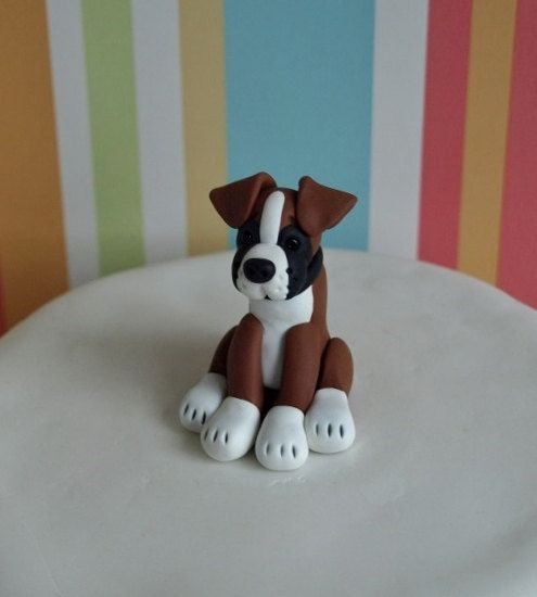 Boxer Dog Cake Topper Dog Wedding Cake Topper by TiaLovesArchie https://pagez.com/3532/33-facts-about-dogs