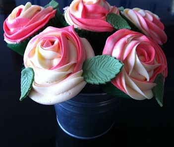 A stunning bouquet of cupcakes - perfect for Valentines Day or Mother's Day