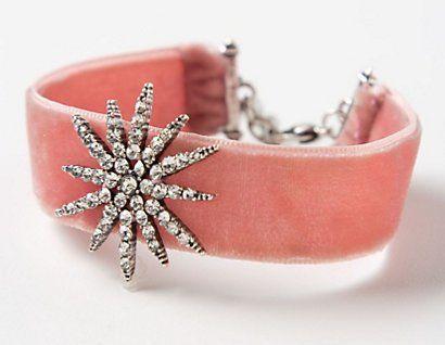 Anthro Cabochon Velvet Bracelet Knockoff » Flamingo Toes