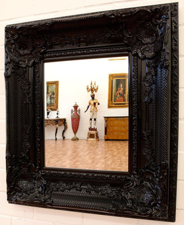 Les 25 meilleures id es concernant le tableau miroir for Grand miroir noir baroque