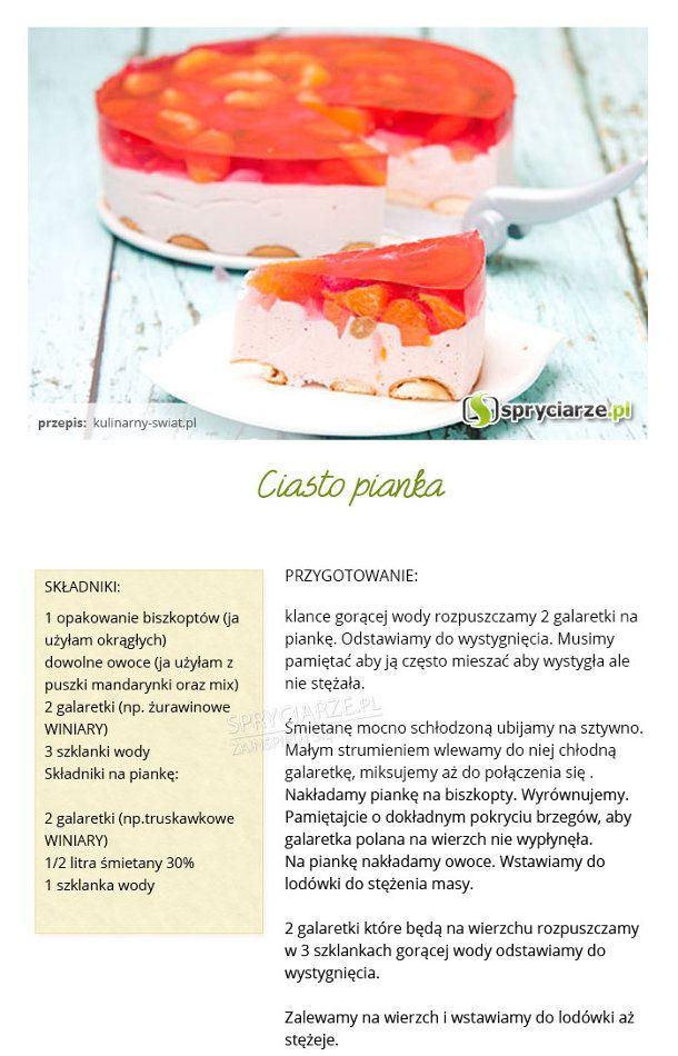 Przepis na ciasto pianka