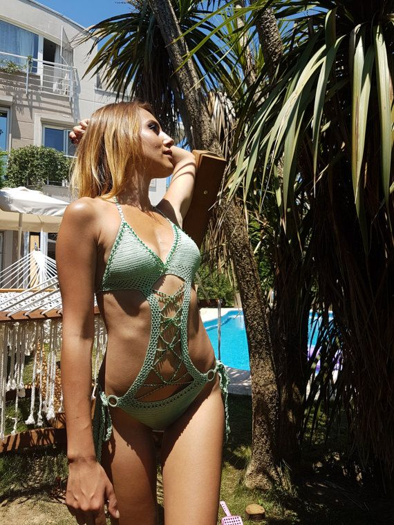 Super thin yarn excellent👌💕 Etsy shop https://www.etsy.com/listing/151200108/crochet-monokini-bikini-handmade-luxury #bikini #monokini #etsyseller #etsyshop #crochet #crochetbikini #beachfashion #designerswimwear #swimwear #beachtrend