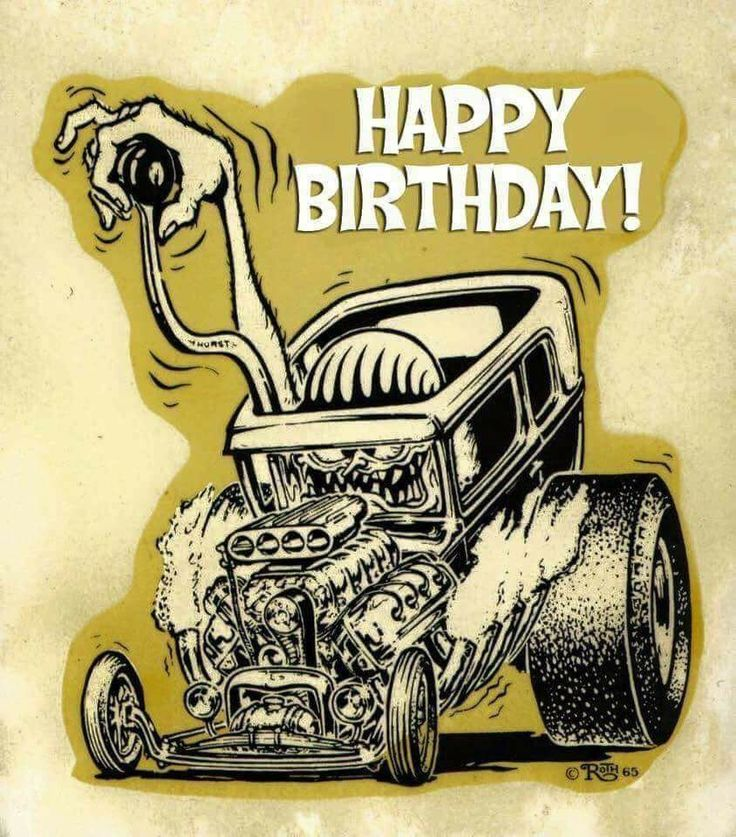 Terrific Rat Fink Image By Jenny Wagoner On Happy Unbirthday Ed Personalised Birthday Cards Veneteletsinfo