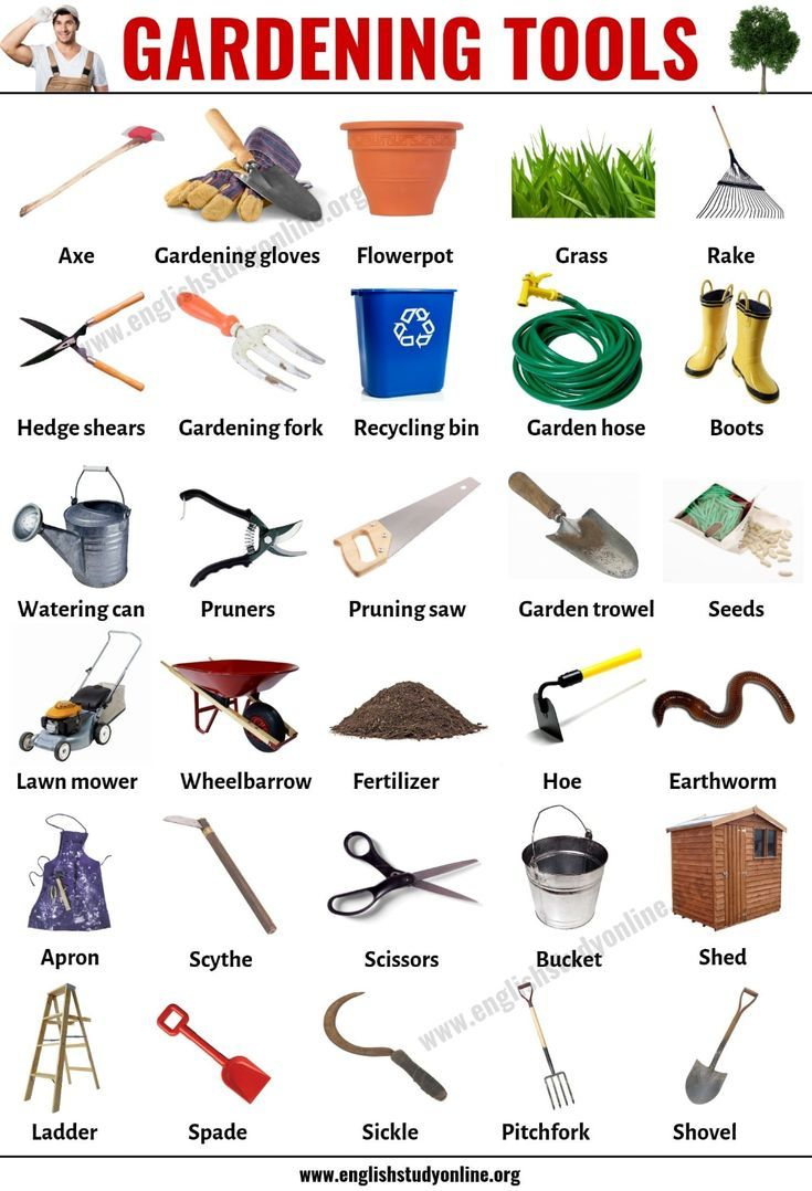 Gardening Tools List Of 30 Useful Tools Names For Gardening In 2020 English Study Garden Tools Gardening Tools Names