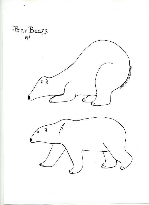 Inspiring Template Of Polar Bear Images Printable Preschool Cut Out