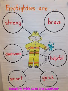 Describing Firefighters (Teaching With Love and Laughter: Fire Prevention Week Activities)