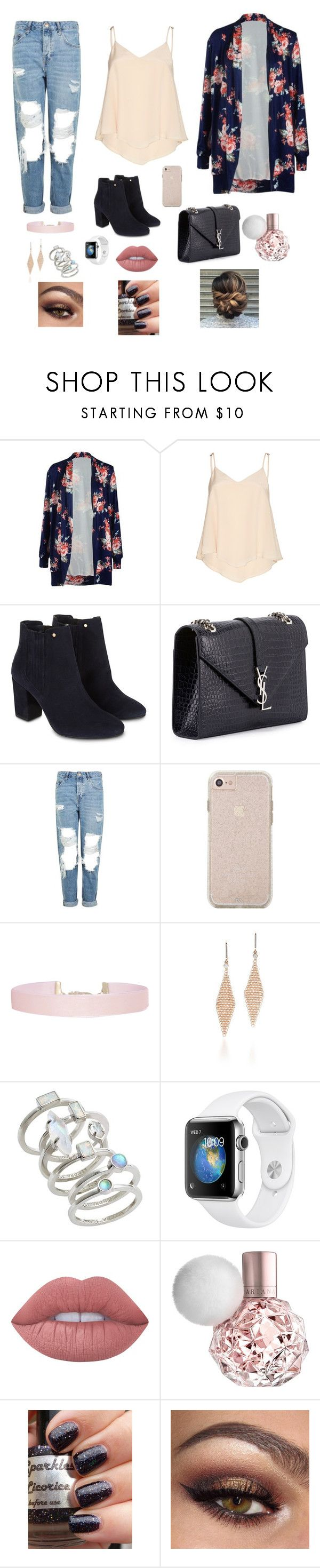 Floral by gabriellaallen on Polyvore featuring Alice + Olivia, Topshop, Monsoon, Yves Saint Laurent, Kendra Scott, Humble Chic, Tiffany & Co. and Lime Crime