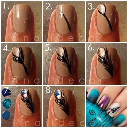 Peacock nail tutorial #SauzaGirlsNight
