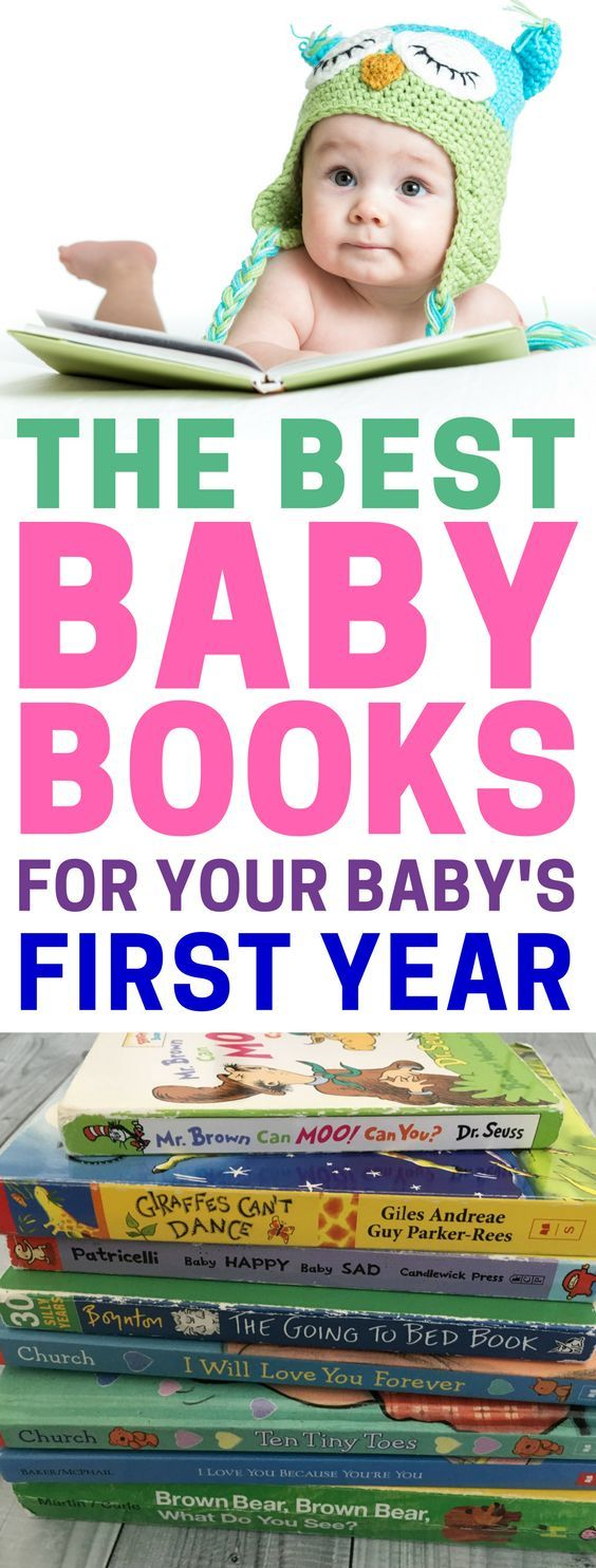The best baby books for your baby's first year. Baby's starter library | Baby books | Educational books for babies | Bedtime books | #babybooks #earlyliteracy