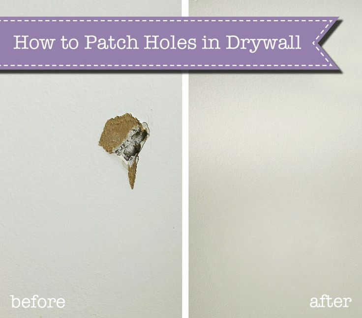 the super simple way to fix holes in drywall handy tips patching holes in walls diy patches. Black Bedroom Furniture Sets. Home Design Ideas
