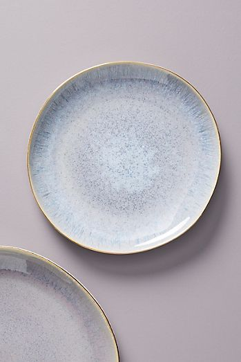 Gilded Lilac Dessert Plate With Images Plates Ceramic Plates Designs Anthropologie Plates