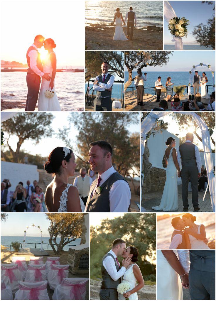 Chapel wedding overlooking the sea in Heraklion area