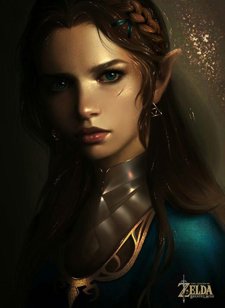 The legend of Zelda Breath of the Wild - Realistic Zelda portrait by @Traucmahr