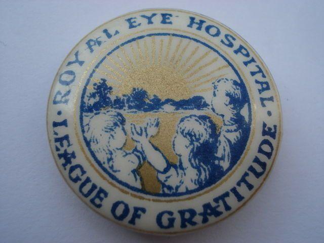 C1930S+VINTAGE+ROYAL+EYE+HOSPITAL+LEAGUE+OF+GRATITUDE+TIN+PIN+BADGE