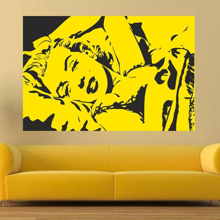 Marilyn forever. The legendary woman now lives in your wall.