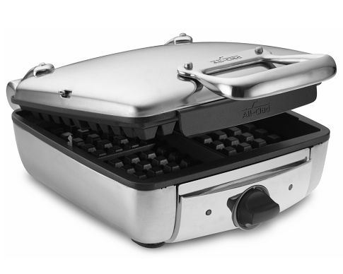 All Clad Waffle Maker.  Love it!  Make THE BEST Belgium waffles.