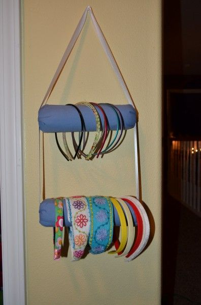 Tutorial: Paint roller headband rack - dollar store craft