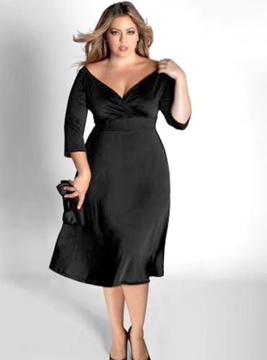 Wow!  Great cut in a lil black dress for us big girls :)
