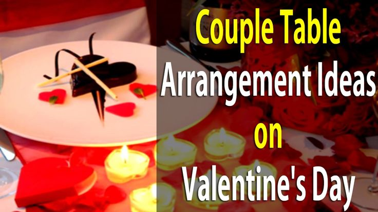 Couple Table Arrangement Ideas on Valentine's Day  | Life Skills TV