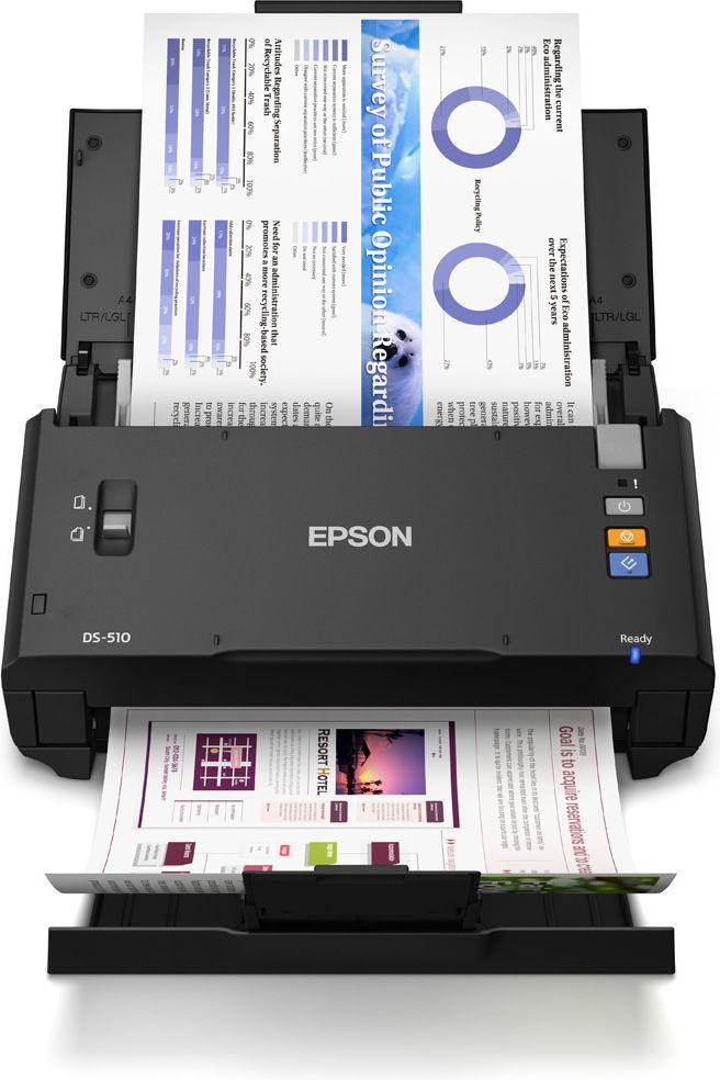 Producent: EpsonModel: WorkForce DS-510Rodzaj: szczelinowyFormat: A3