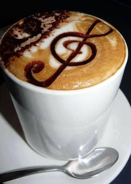 Music and coffee.. Add a bit of chocolate and.. Heaven