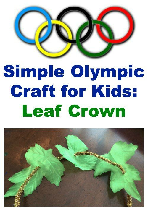 Simply olympic craft leaf crown for kids