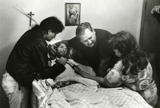Widely considered the photo that changed the face of AIDS: A father comforts his son, David Kirby, on his deathbed in Ohio. Published in LIFE magazine in November of 1990.