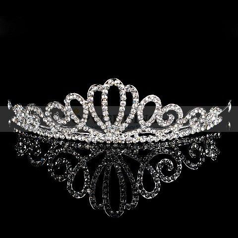 Gorgeous Rhinestone Silver Plated Alloy Wedding Tiara For more wedding inspiration please visit www.lolabeeandme.com