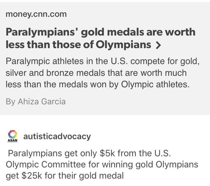 Paralympics, olympics, ableism... if anything they deserve more than Olympians