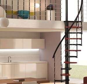 escaleras caracol espacios reducidos modelo trio