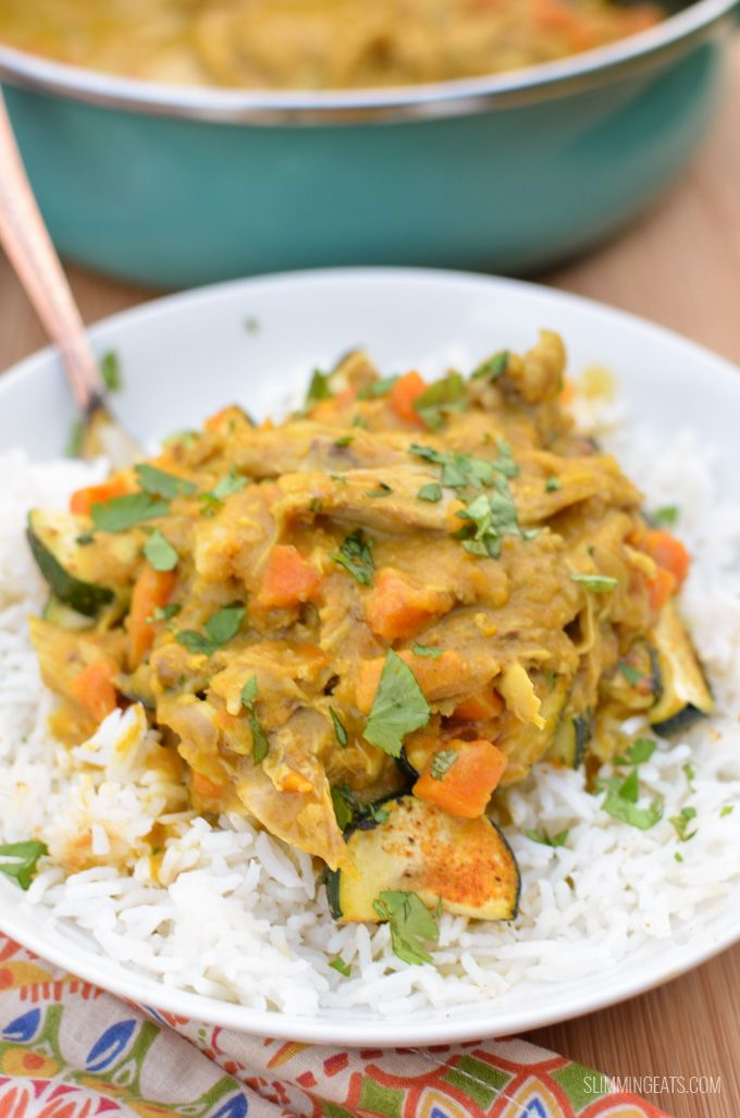Coconut Chicken and Sweet Potato Curry - a dish you just have to make, all cooked in the instant pot in less that 30 minutes.