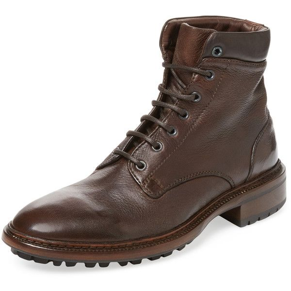 Gordon Rush Italy Men's Greyson Boot - Brown, Size 40 ($399) ❤ liked on Polyvore featuring men's fashion, men's shoes, men's boots, brown, mens brown shoes, mens boots, mens brown boots, mens leather lace up boots and mens brown leather lace up boots