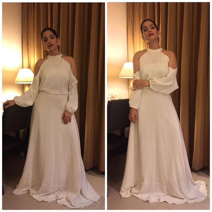 """20.1k Likes, 62 Comments - Priya Bapat (@priyabapat) on Instagram: """"Wore this beautiful cold shoulder dress by @demebygabriella for the #timesfoodguideawards…""""   #flyrobe #dresses #gowns"""